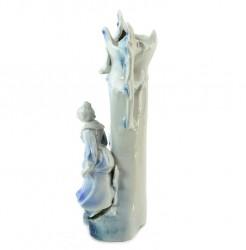 "Статуэтка - ваза ""Девушка с котами под деревом"", арт. 3147"