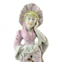 """Статуэтка """"Дама с собачкой в розовом платье"""", арт. 3148"""