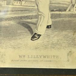 "Старинная литография в раме ""William Lillywhite"" , арт. 3151"