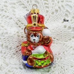 """Елочная игрушка """"Медведь солдат с барабаном"""", арт. 5261 ID3777"""