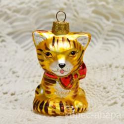 "Елочная игрушка ""Рыжий кот"" кошка, арт. 3208 ID4186"