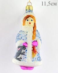 "Елочная игрушка ""Снегурочка c зайчиком"" 11,5см.,арт. 3208 ID1659"
