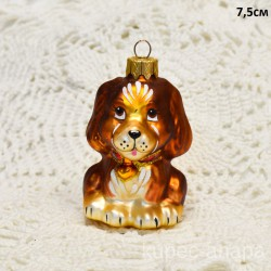 "Елочная игрушка ""Собачка"" коричневая, арт. 3209 ID4192"
