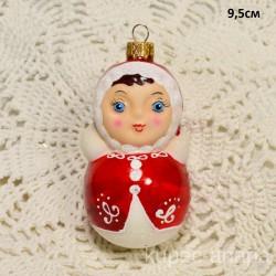 "Елочная игрушка ""Неваляшка"" красная, арт. 3209 ID2089"