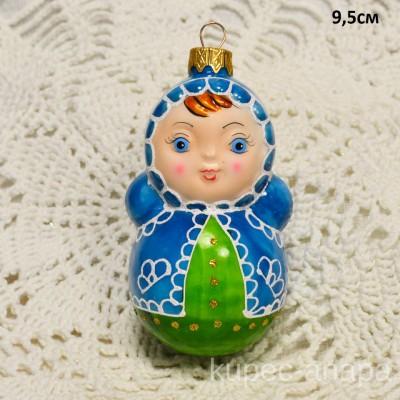 """Елочная игрушка """"Неваляшка"""" синяя, арт. 3209 ID2090"""