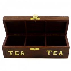 Шкатулка для чая (3 отдела), арт. 3379