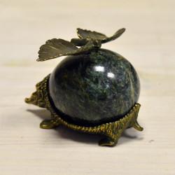 Фигурка Ежик из бронзы и змеевика, арт. 3418