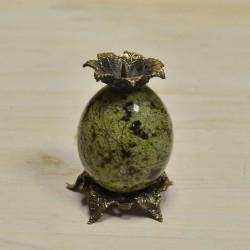"""Подсвечник """"Яйцо"""" 1шт. в ассортименте. бронза, змеевик., арт. 3427"""