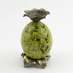 """Подсвечник """"Яйцо"""" 1шт. в ассортименте . бронза, змеевик., арт. 3427"""