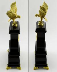 """Часы из яшмы и долерита """"Орел"""", арт. 3431"""