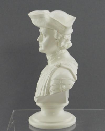 "Бюст ""Петр I""  в треуголке. белый, арт. 3536"