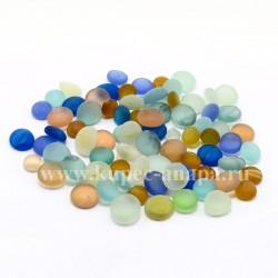 Декоративные стеклянные камушки матовые, 250гр., арт. 3574