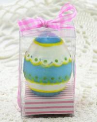 Свеча - яйцо пасхальное, голубое , арт. 3597/1