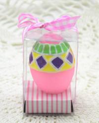 Свеча - яйцо пасхальное, розовое. цв. , арт. 3597/2