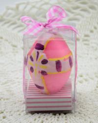 Свеча - яйцо пасхальное, розовое, арт. 3597/3
