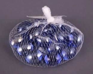 Декоративные стеклянные камушки, 300гр., арт. 0474