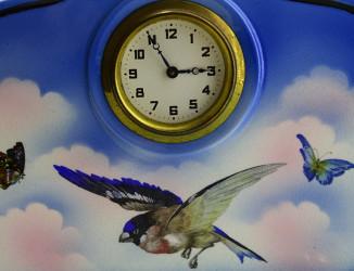"""Часы каминные механические """"Птичка на закате"""" арт. 3651"""