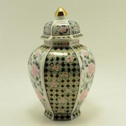 """Чайница форма амфора """"Птичка и цветы"""" темно-синяя, арт. 3679"""