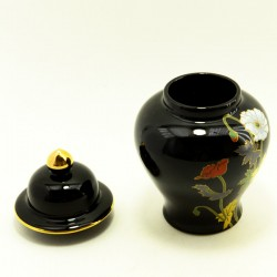 """Чайница форма амфора """"Маки"""" черный, арт. 3685"""