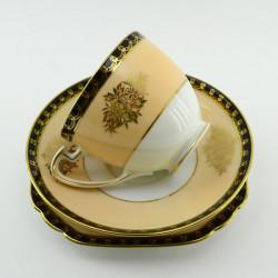 """Чайное трио """"Стиль"""" бежево-черное, арт. 3688/3"""