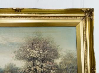 "Картина в деревянной раме ""Утро на реке "", арт.3712"