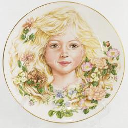 """Тарелка декоративная, набор 2шт. """"Flowers of Innocence"""", арт. 3721"""