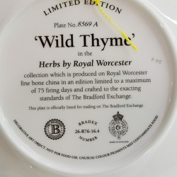 """Тарелка декоративная 2шт. Ботаника """"Herbs by Royal Worcester"""", арт. 3725"""