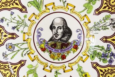 "Тарелка декоративная. Ботаника ""Flowrers from Shakespeare"", арт. 3726"