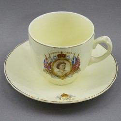 """Чайная пара """"Коронация Елизаветы II"""" 200мл., арт. 3750"""