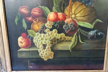 """Картина в деревянной раме натюрморт """"Овощи и фрукты"""", арт.3759"""