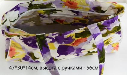 """Сумка хлопковая """"Цветы"""", арт. 3791/3"""