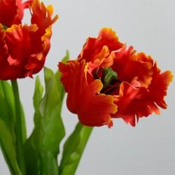 """Набор цветов искусственных из 3шт. """"Тюльпан Волна"""" белый 75см, арт. 3929"""