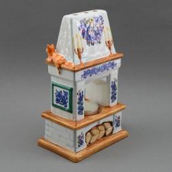 "Фигурка - подсвечник ""Печка - камин"" майолика, арт. 3953"