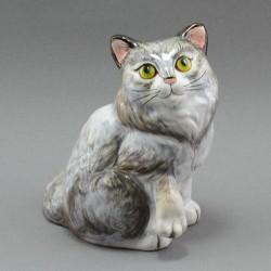 "Фигурка ""Кошка серая"" майолика, арт. 3957"