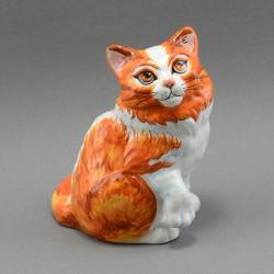 """Фигурка """"Кошка рыжая"""" майолика, арт. 3957"""
