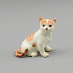 "Фигура миниатюра ""Кошка бело-коричневая"", арт. 3987"