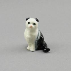 """Фигура миниатюра """"Кошка британская черно-белая"""", арт. 3989"""