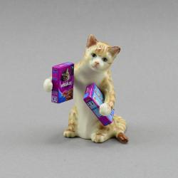 """Фигура миниатюра """"Кот держит вискас"""", арт. 3994"""