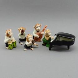"Фигура миниатюра ""Обезьяны музыканты. Оркестр"", арт. 4012"