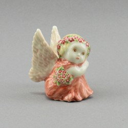 "Фигура миниатюра ""Ангел с цветами в розовом"", арт. 4041"