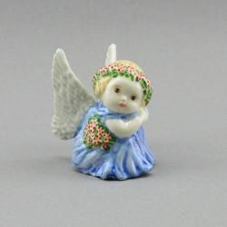 """Фигура миниатюра """"Ангел с цветами в голубом"""", арт. 4042"""