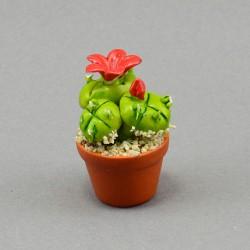 "Фигура миниатюра  ""Цветок. Кактус"" в ассорт. 5см., арт. 4046"