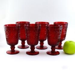 Набор Бокалов (из 6 шт) красные большие 9*9*16,5см.,  арт. 4069