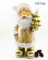 """Фигура """"Дед Мороз с елкой"""" 47см., арт. 4096"""