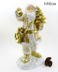 """Фигура """"Дед Мороз с елкой и колокольчиком"""" 46см., арт. 4097"""