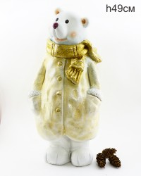 """Фигура """"Медведь в пальто и шарфе"""" 49см., арт. 4100"""