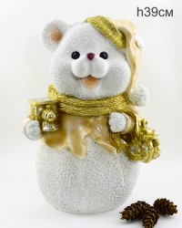 "Фигура ""Мишка с мешком подарков"" 39см., арт. 4102"