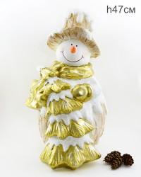 """Фигура """"Снеговик большой с елкой"""" 47см., арт. 4105"""