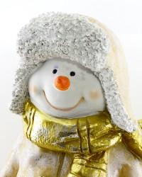 """Фигура """"Снеговик большой в пальто и шапке"""" 49см., арт. 4106"""