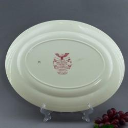 """Блюдо - тарелка """"Пейзаж"""" 35,5*28см. розовое,  арт. 4125"""